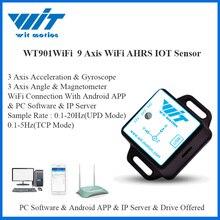 Witmotion WT901WiFi Draadloze 9 As Wifi Sensor Hoek Inclinometer + Accelerometer + Gyro + Magnetische Veld Op Pc/Android/Server
