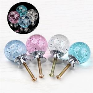 Image 5 - Tirador de mueble con bola de burbuja de cristal de un solo orificio, tiradores de tocador, tirador de cristal para muebles