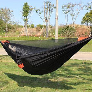 Portable Nylon Hammock Camping Parachute Travel Camping Survival Swing Garden Hunting Leisure Outdoor Thickened Hammock