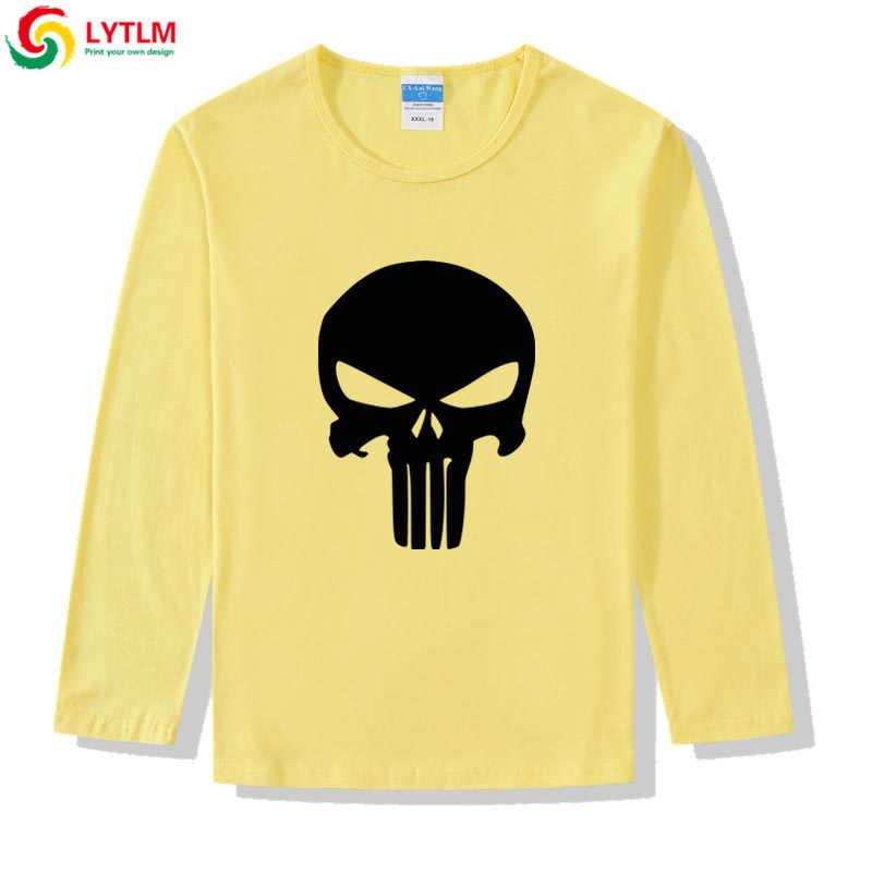 LYTLM Marvel T เสื้อ Punisher Camiseta เสื้อผ้าเด็กการ์ตูนเสื้อเด็กเสื้อยืดสาวเสื้อเด็กแขนยาวเสื้อ