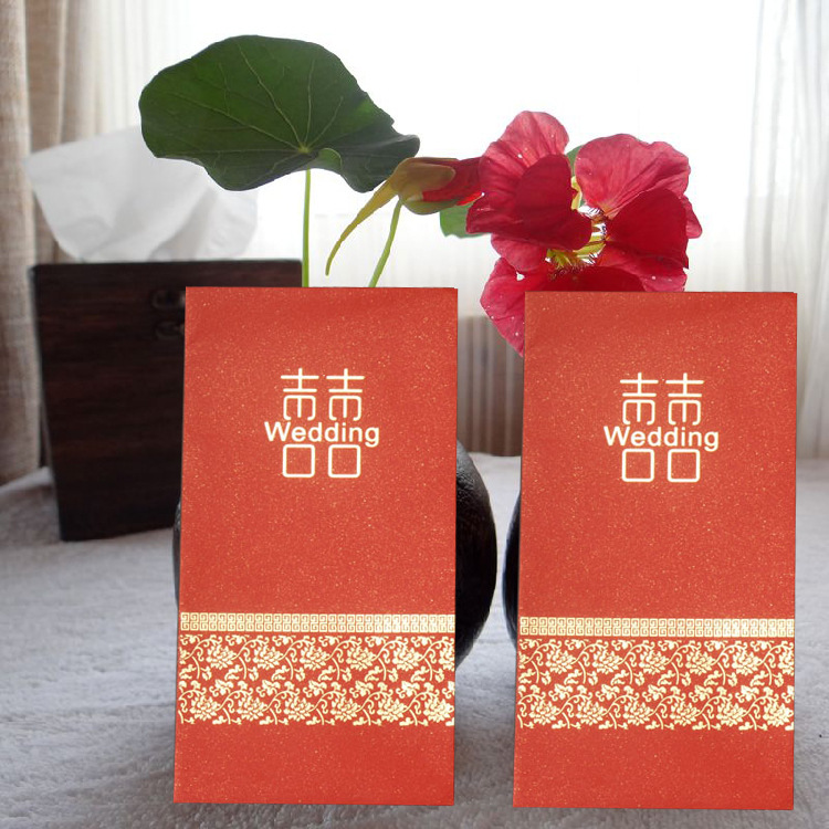 Wedding Red Packet Bronze Hundred Thousand Dollars Universal Marriage Red Packet Creative Mini Small Red Packet Pearl Paper Red