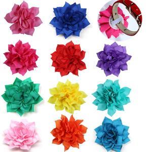 Image 4 - 100 adet köpek çiçek yaka bahar evcil hayvan ürünleri katlanabilir büyük köpek papyon yaka aksesuarları küçük köpek kedi yavrusu yaka takılar