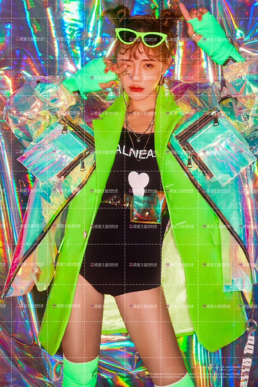 Hologramme paillettes femmes à la mode desserrer veste Bling Laser manteaux réfléchissants Punk danse Hip Hop veste annonces modèle holographique ensemble - 5