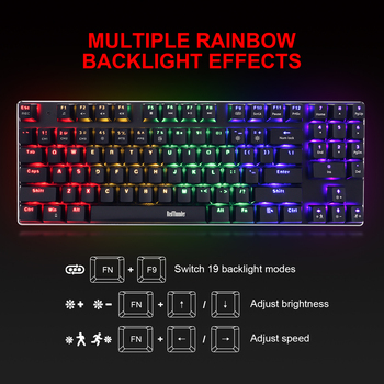 RedThunder K89 Mechanical Gaming Keyboard with Numeric Keypad Blue Switch Programmable RGB LED Backlight for Desktop PC Gamer 2
