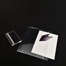 Прозрачный акриловый держатель меню для тента с именем, подставка для фотографий