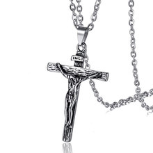 Stainless Steel Cross Necklace Jesus Jewelry Pendant Necklace Men Women Gold Silver Color Classic Necklaces Exquisite Jewelry(China)