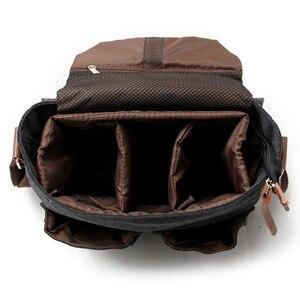 Image 4 - Tuval SLR kamera çantası ulusal coğrafi fotoğraf SLR kamera çantası Canon Nikon Sony için mini Messenger omuz çantası