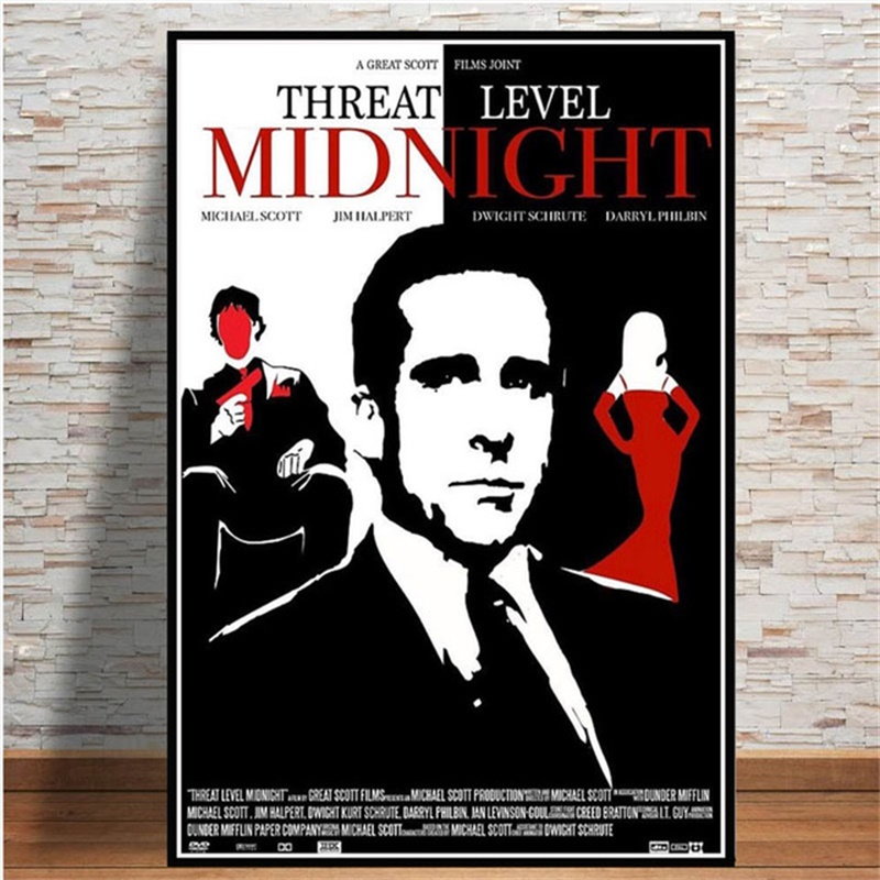posters and prints the office threat level midnight characters poster wall art picture canvas painting for room home decor