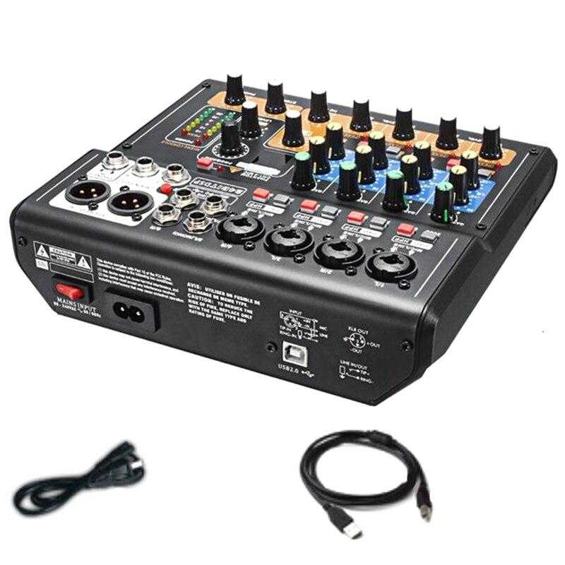 Console de mixage Audio 8 canaux ABGN chaude et professionnelle Mini table de mixage DJ numérique USB avec interrupteurs à tampon effet DSP pour karaoké