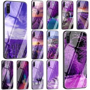 В виде пурпурных цветов лаванды чехол для телефона из закаленного стекла для Xiaomi 8 Lite 9 A1 A2 F1 Redmi 4X 6A 8 8A Note 5, 6, 7, 8, 9, 9 Pro Max 8T