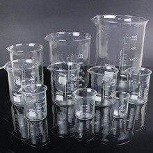 5 шт./компл. 25 мл/50 мл/100 мл/150 мл/500 мл Стекло стакан химическое исследование лабораторное оборудование для школьное лабораторное оборудование