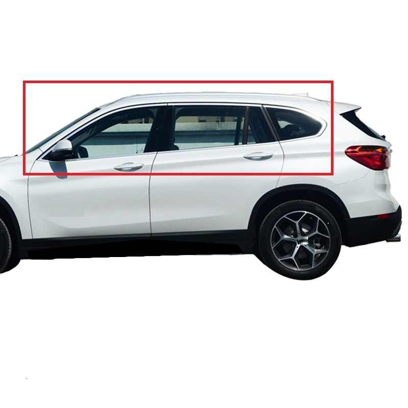 Auto Chroom Automovil Body Window Mistlicht Buitenkant hoogwaardige Mouldings Sticker Strip 16 17 18 19 VOOR BMW X1 Serie