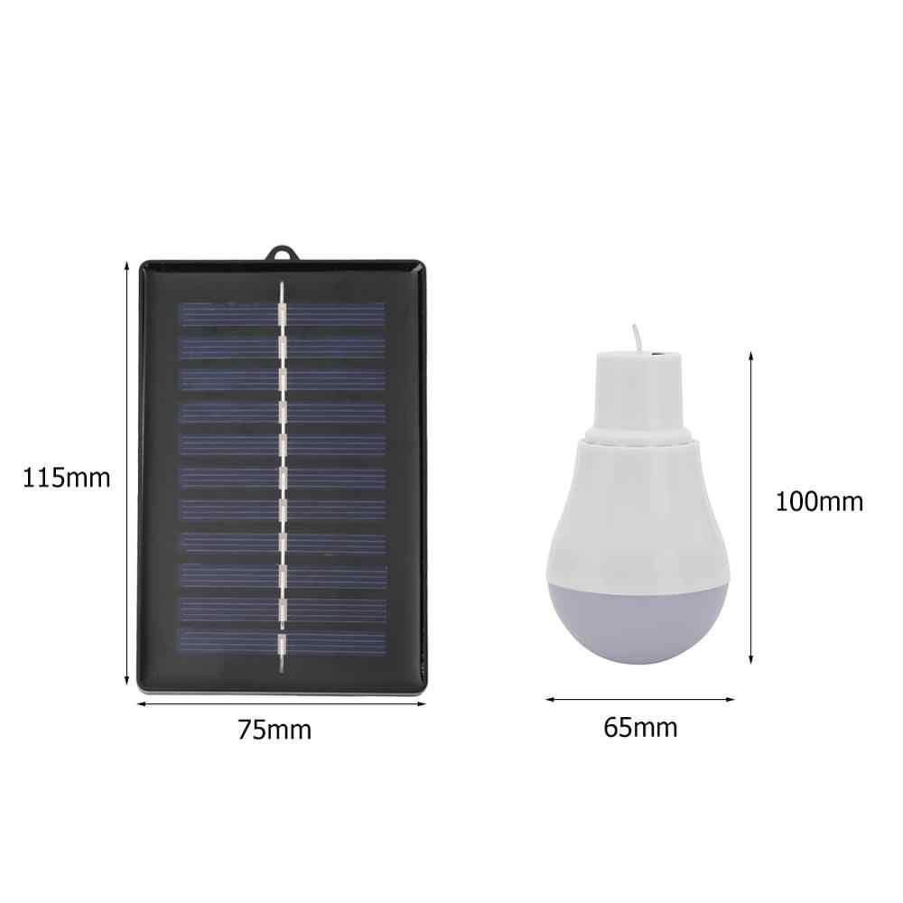 סולארי נייד כוח פנל אור 5V 15W 300LM שמש כוח אנרגיה חיצוני מנורת 5500-6500K USB rechargable Led הנורה