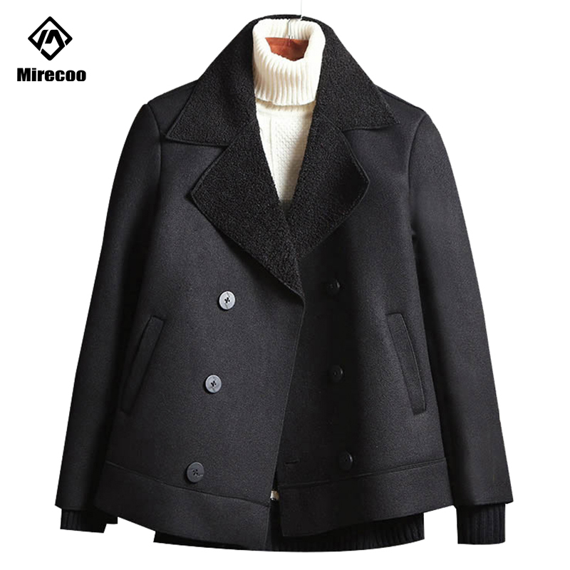 Fashion 2019 Loose Men's Wool Coat Solid Color Trench Jacket Male Winter Warm Single Breasted Business Casual Overcoat Parka