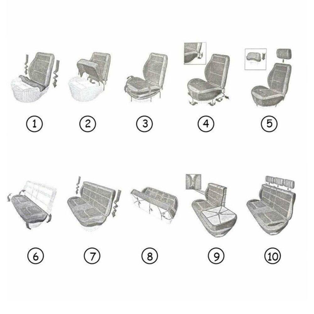 9pcs/4pcs/Set PU Leather Car Seat Cover  Pad For Toyota RAV4 4runner Venza