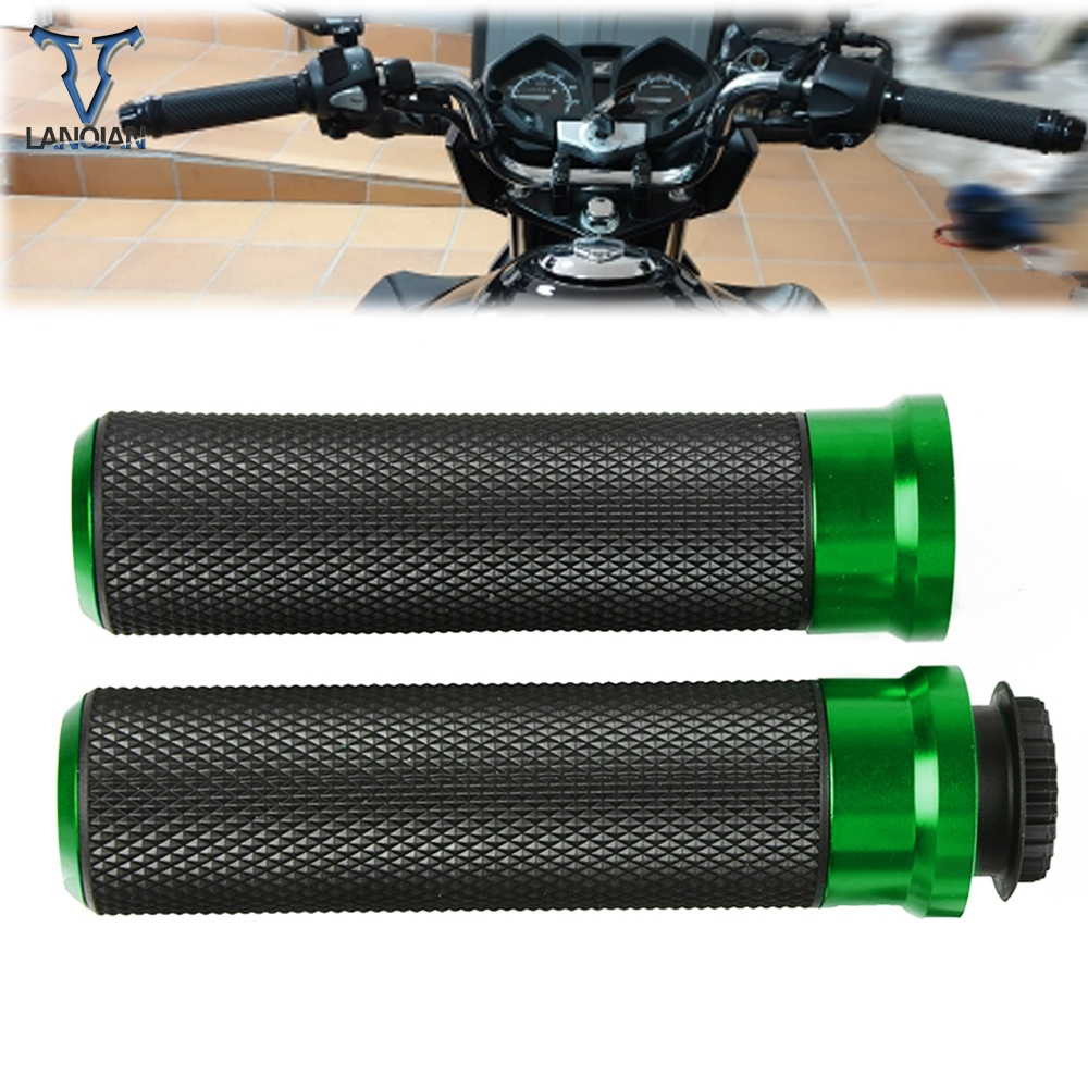 Motorcycle Accessory Poignee Moto Aluminum Hand Grip Aluminum Plastic For Bmw K1200r Honda X11 Yamaha R1 2004 Cb400sf Fz25 Rsv4