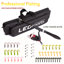 2019 All fishing Telescopic Fishing Rod Reel Combo Full Kit Outdoor Fishing Spinning Reel Pole Set Fish Line Lure Hook Bag D25 sougayilang telescopic fishing rod with spinning reels combos fishing reel pole lure line bag sets kit for travel fishing tackle
