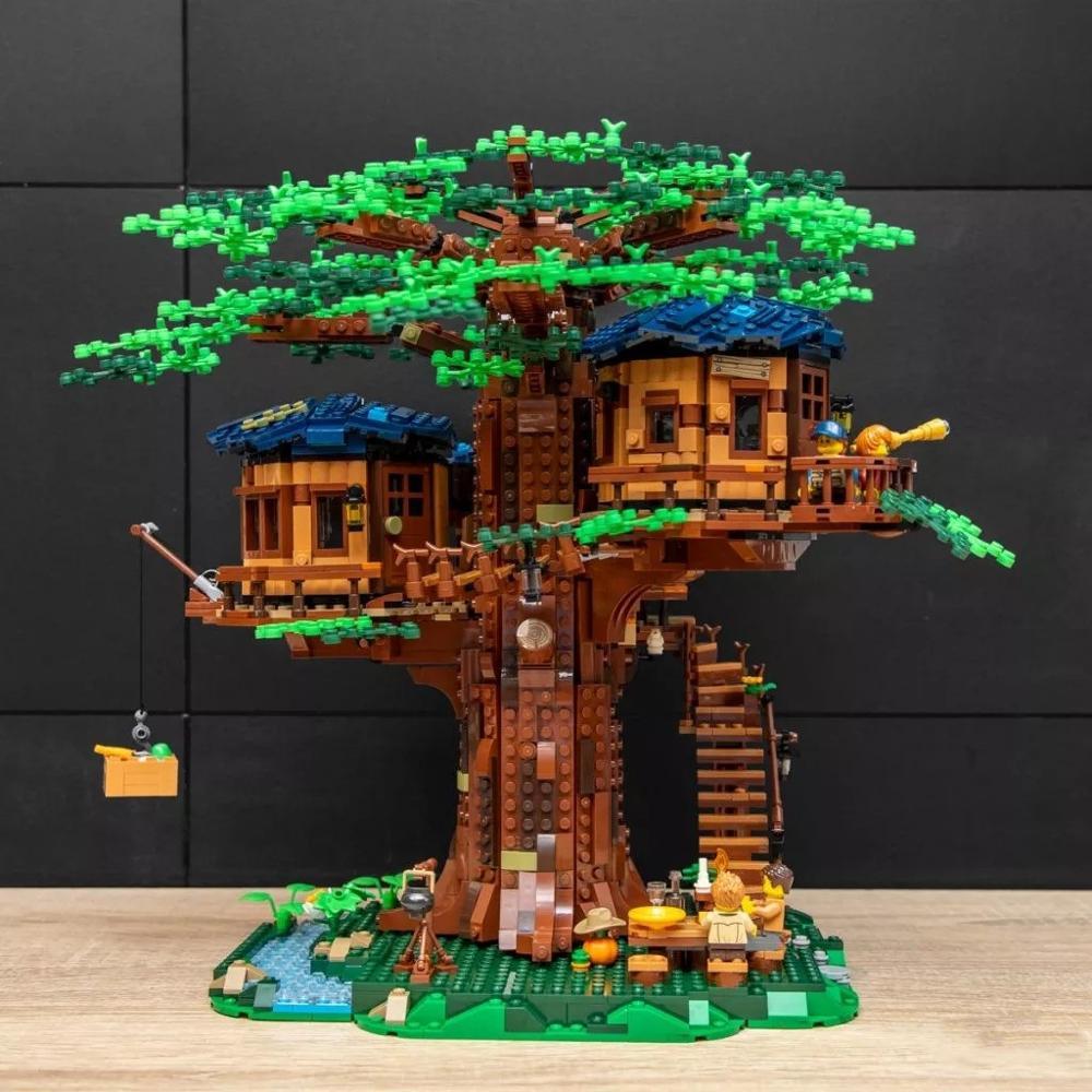 MOC Flowers Kit LED Lighting set for Tree House LEGO 21318 Building Bricks