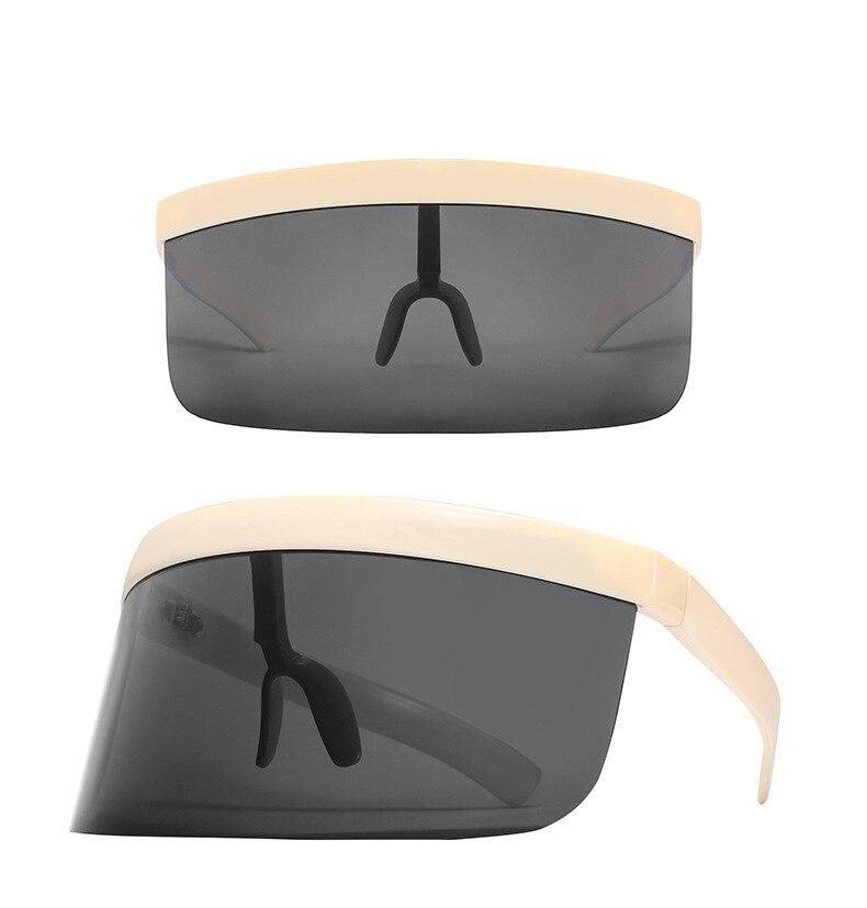 Óculos de sol unissex, óculos espelhados extragrandes
