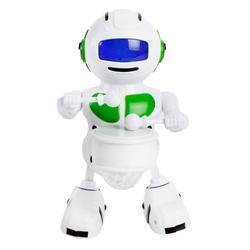 Robô de dança elétrica design delicado especialmente criativo rotação cor iluminação música tambor robô crianças presente