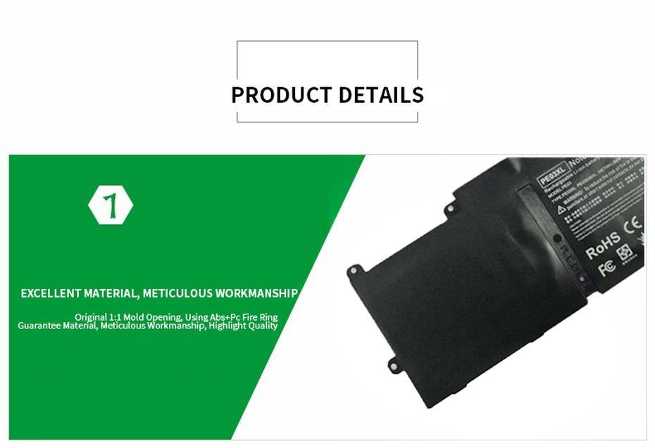 PINZHENG PE03XL Bateria Do Portátil Para HP
