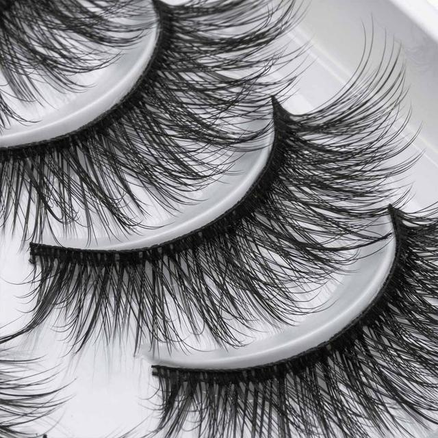8/10 Pairs Eyelashs Natural long 3D Faux Mink Eyelashes Thick HandMade Full Strip Lashes Volume Soft Mink Lashes False Eyelashes 4