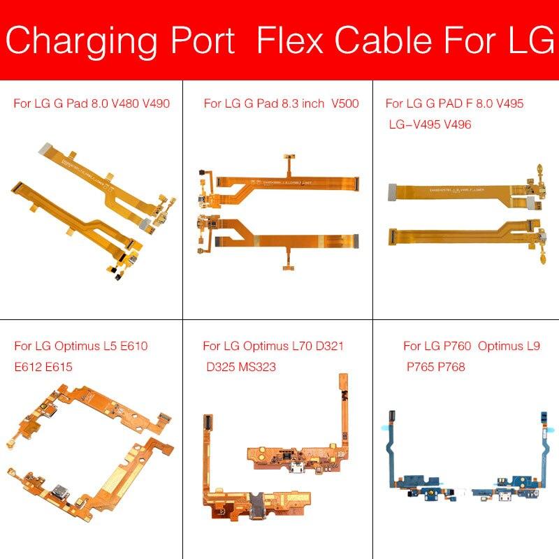 Usb Charger Flex Cable For LG G Pad F Optimus L5 L9 L70 8.0 8.3 E612 E615 Micro USB Charging Jack Port Connector Flex Cable