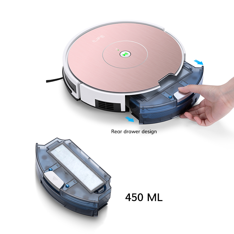 ILIFE NEW A80 Plus Robot Vacuum Cleaner Smart WIFI App control Powerful suction Electronic wall cleaning 5