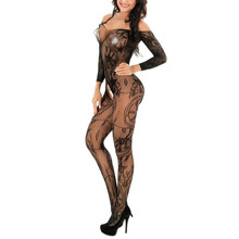 Women Sexy Sissy Lingerie Babydoll Underwear Body Stocking One Size bodystocking catsuit crotchless Lingeries bodysuit