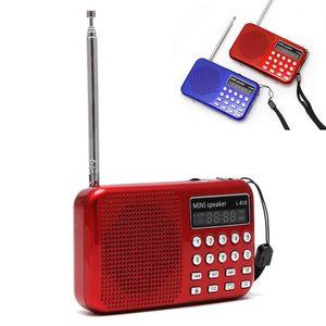 Image 1 - Mini LCD dijital ses FM radyo USB mikro SD TF kart hoparlör MP3 müzik çalar