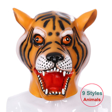 Woman Man Animals Cosplay Costumes Pig Tiger Unicorn Halloween Cosplay Mask Headgear Props for Anime Party Club Full Face Mask