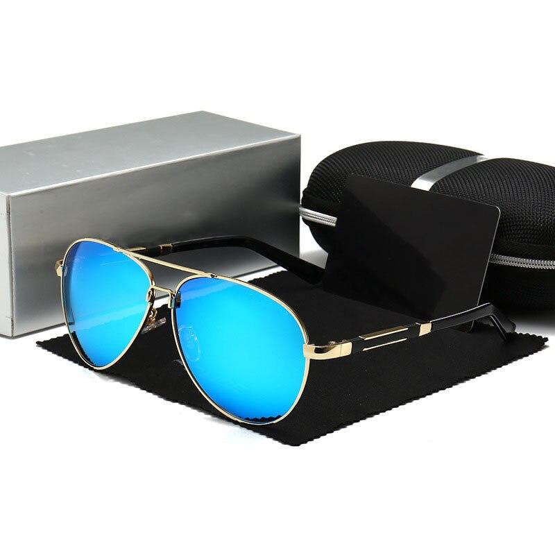 Óculos de sol homem de luxo marca designer polier óculos de sol homem polarizado condução óculos de sol para homem piloto oculos de sol masculino
