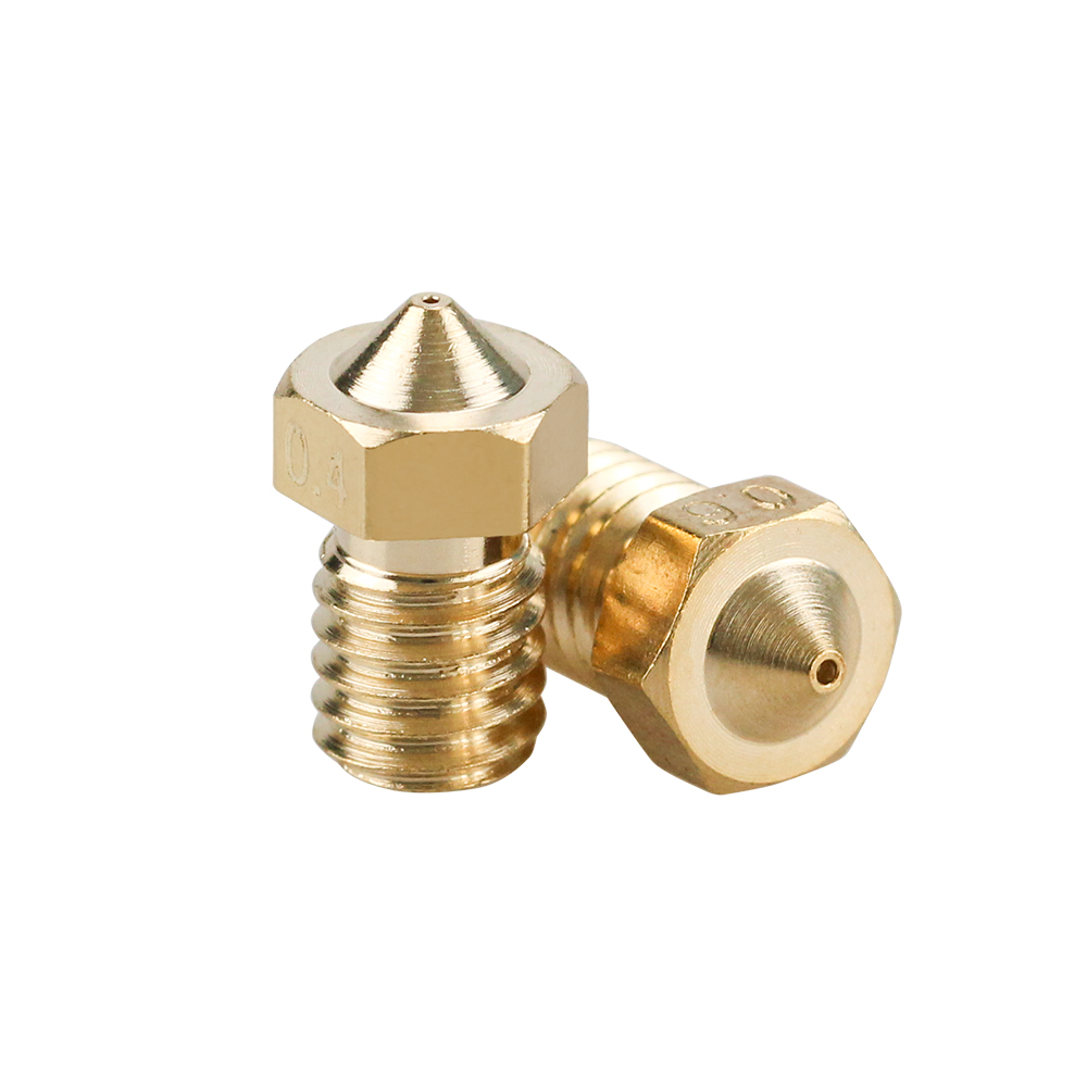1Pc E3D V6 Brass Nozzle 0.2/0.25/0.3/0.4/0.5/0.6/0.8/1.0 For 1.75mm 3mm Filament E3D V6  V5 Copper Nozzle Extruder Print Head