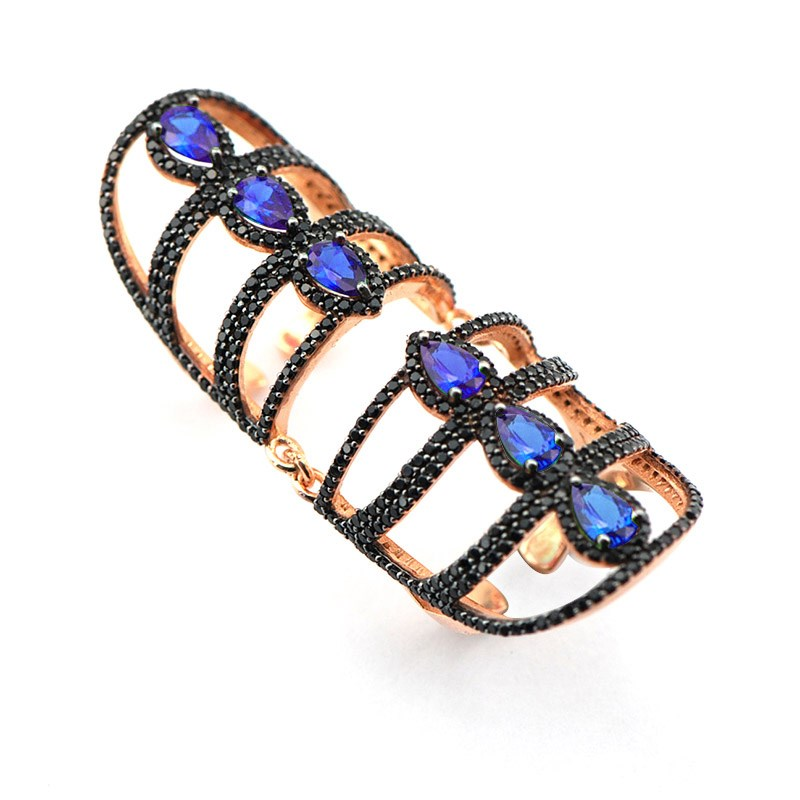 Knuckle anneaux pour femmes Double anneau énorme anneau complet bague élégant nouvelle mode dame bijoux cadeau