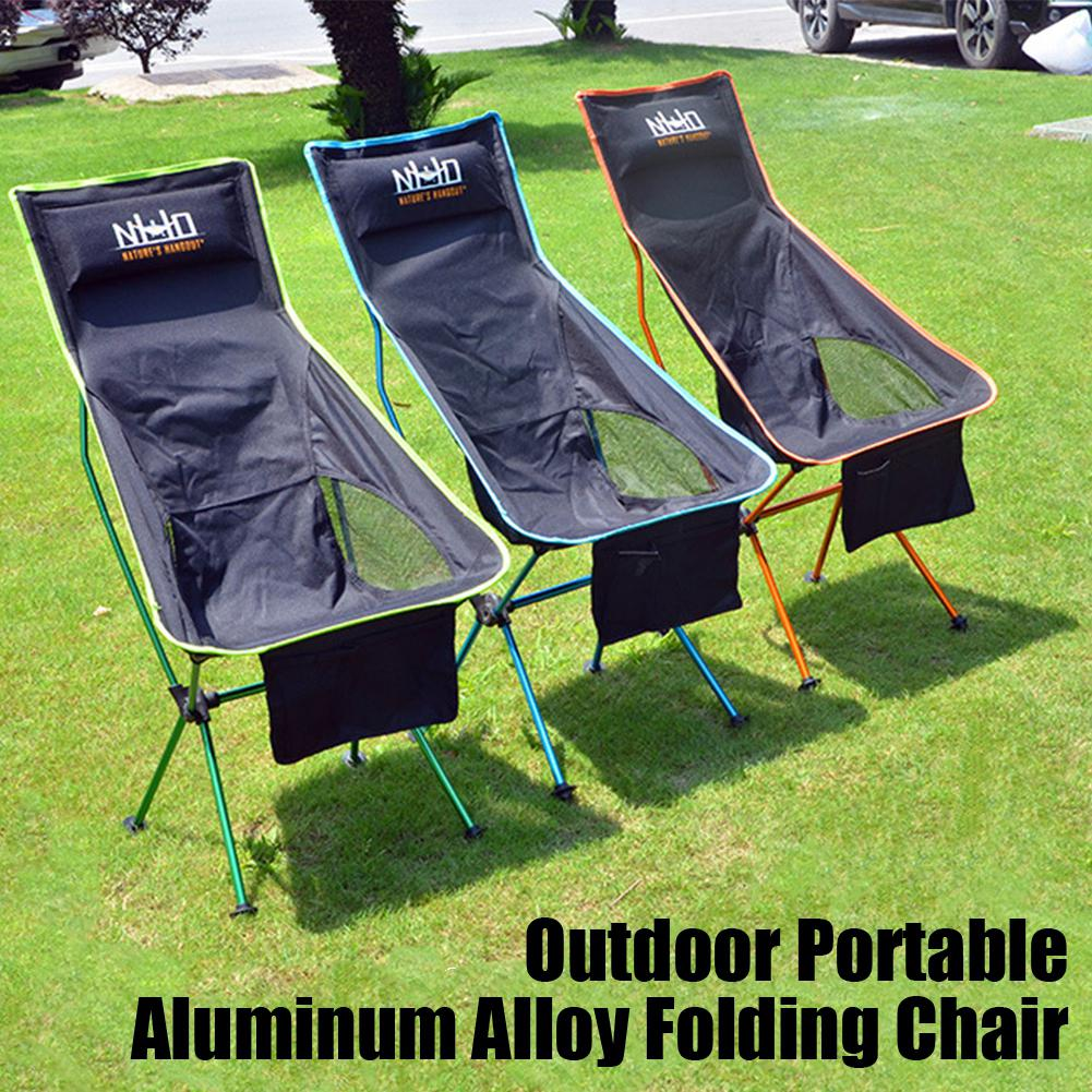 Mounchain Portable Collapsible Chair Fishing Camping BBQ Stool Folding Extended Hiking Seat Ultralight Furniture