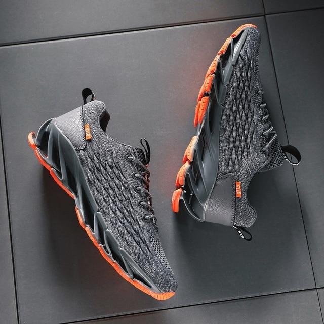 Men Blade Shoes Soft Running Shoes Men's Breathable Walking Jogging Shoes Outdoor Fashion Shoes Men Casual Cool Black 4