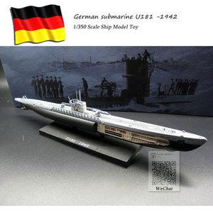 ATLAS 1/350 Scale Military Model Toys World War II German IXD2 U-boat Submarine U181 -1942 Diecast Metal Warship Model Toy