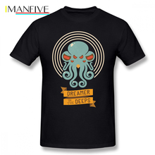 Dreamer T Shirt Cthulhu, In The Deeps T-Shirt Cotton Short Sleeves Tee XXX Print Male Classic Awesome Tshirt