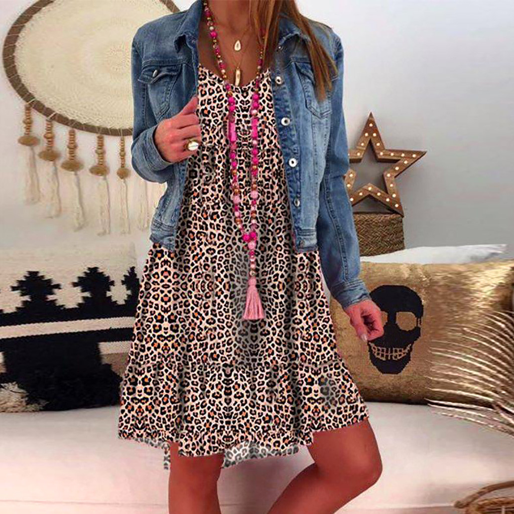 Hca801dc762824a9380d5653816bf7636j JAYCOSIN plus size dress women summer dress Loose Ladies dresses woman Leopard Print Long Sleeve Dress girl vestidos wholesale 7