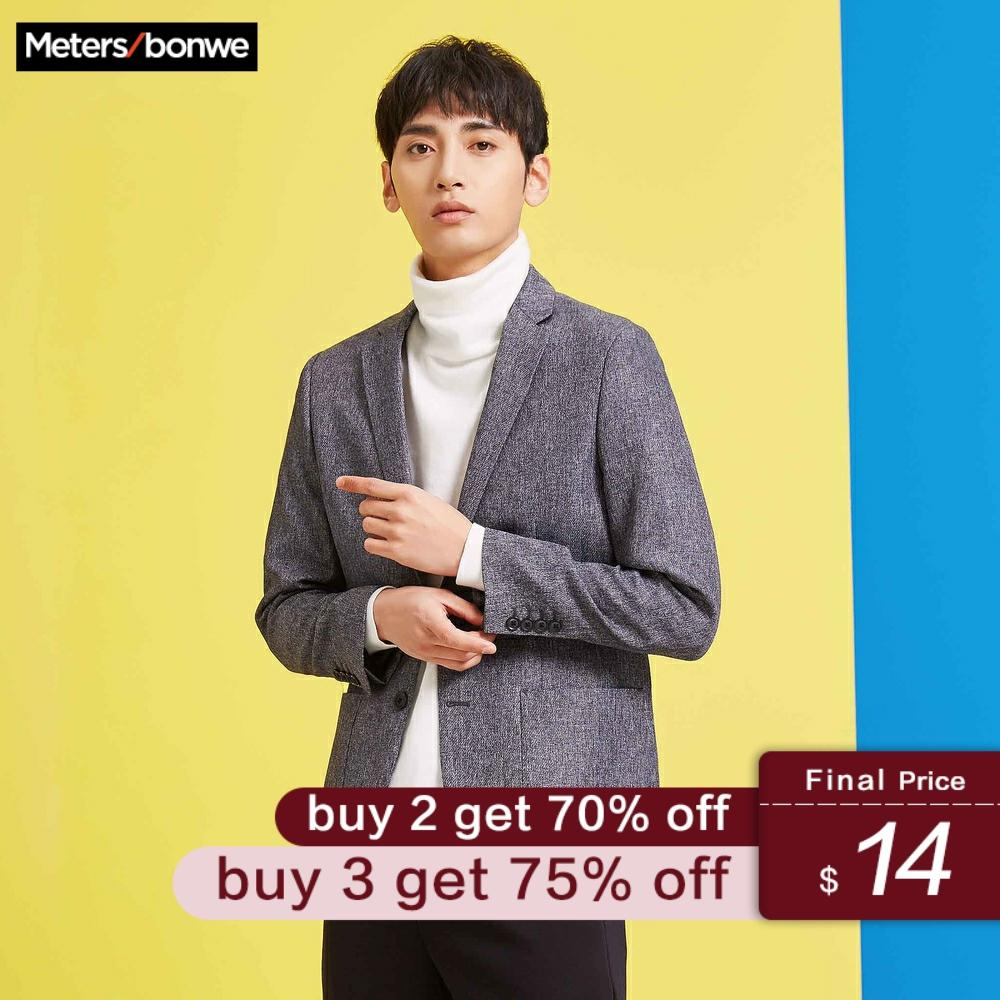 Metersbonwe Mens Fashion Blazer 2019 Autumn Brand Business New Tide Design Casual Male Slim Fit Suit Jacket Costume Homme