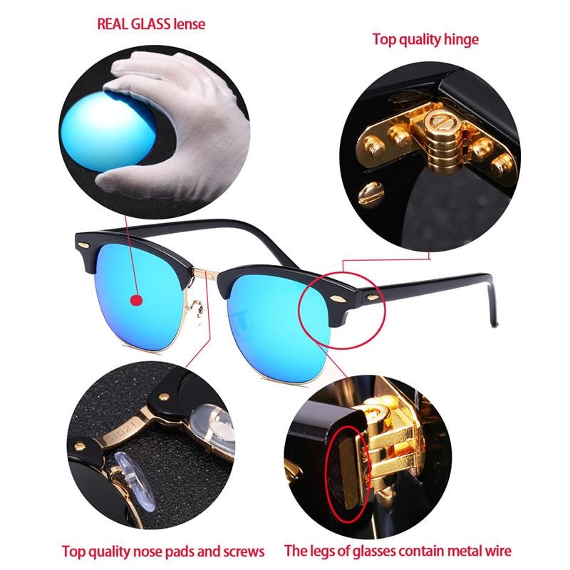 Image 5 - Glass lens Classic retro sunglasses men women Luxury Brand Design Goggles Elegant Sun glasses Shades gafas oculos De Sol 3016-in Women's Sunglasses from Apparel Accessories on AliExpress