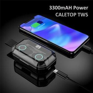 Image 2 - עדכון חדש G02 TWS 5.0 Bluetooth 9D סטריאו אוזניות אלחוטי אוזניות IPX7 עמיד למים אוזניות 3300mAh LED חכם כוח בנק
