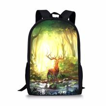 HaoYun Childrens Backpacks Fantasy Deers Pattern Toddler Kids School Book Bags Kawaii Animal Fashion Girls Travel Backpack