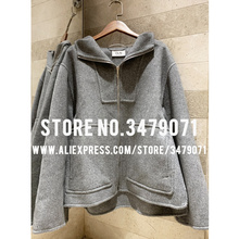 Двухсторонняя кашемировая куртка с капюшоном,, высокое качество, свободное, для отдыха и спорта, модное, кашемировое пальто