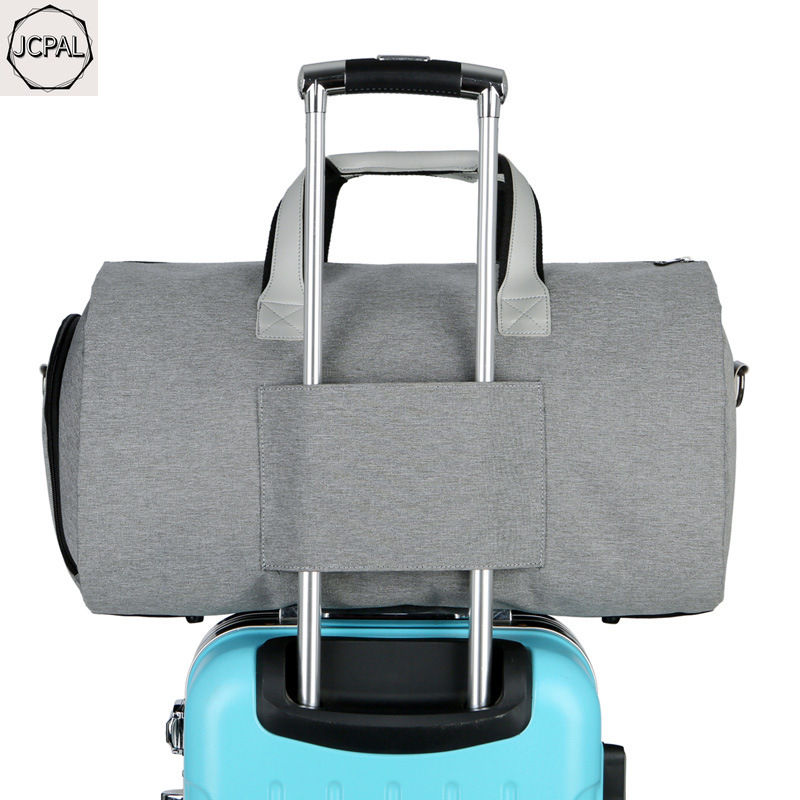 JCPAL Large Capacity Men Travel Bag Waterproof Duffle Bag for Trip Suit Storage Hand Luggage Bags with Shoe Pouch