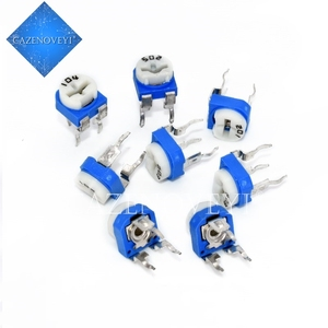 40pcs/lot RM065 RM-065 100 200 500 1K 2K 5K 10K 20K 50K 100K 200K 500K 1M ohm Trimpot Trimmer Potentiometer variable resistor