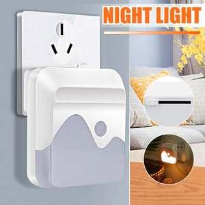 Светодиодный Ночной светильник мини-светильник Сенсор Управление 110 V-240 V теплый белый ЕС США Plug энергосберегающая лампа для Гостиная Спальня светильник Инж
