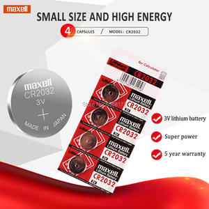 4pcs cr2032 DL2032 ECR2032 5004LC KCR2032 BR2032 3v for maxell button cell coin lithium batteries for watch car toy