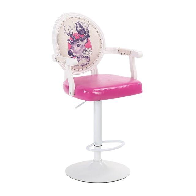 European Style Bar Chair Lift Chair Modern Simple Rotary Bar Chair High Stool Cash Register Chair Backrest Stool Household
