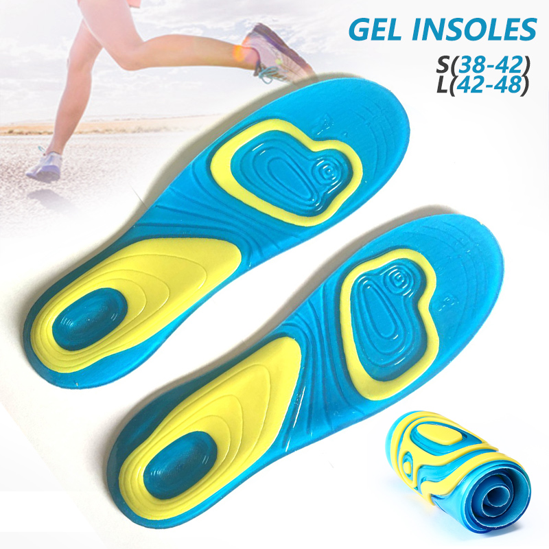 Orthotic Arch Support Sport Running Gel Insoles Insert Cushion For Men And Women Silica Gel Shoe Pad
